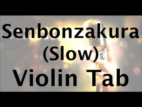 How to Play Senbonzakura on the Violin Slow Version