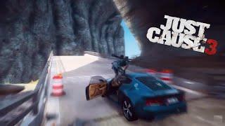 Complex RPG/Ramp/Car/Bridge Wingsuit Stunt - Just Cause 3
