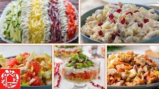 5 Простых Салатов на Новогодний Стол. МЕНЮ НА НОВЫЙ ГОД 2020