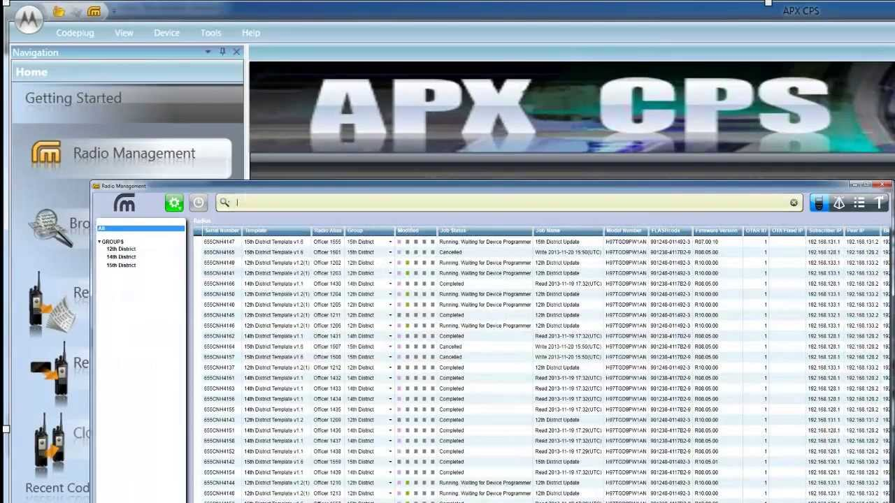 Motorola Solutions APX Radio Management Overview