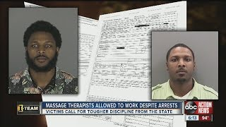 Massage therapists accused of sexual assaults