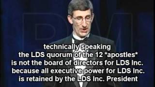 LYING MORmON APOSTLE David Bednar Caught LYING v.