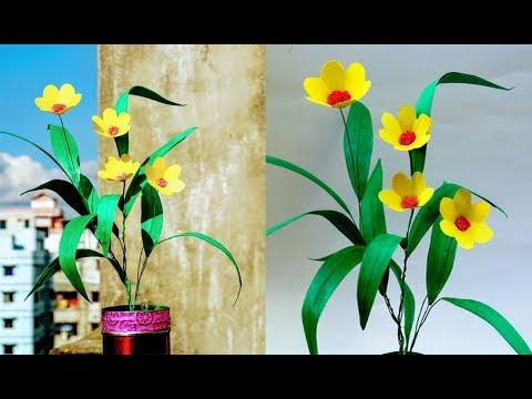 DIY Craft : How to make Grass Flower Using Colour Paper