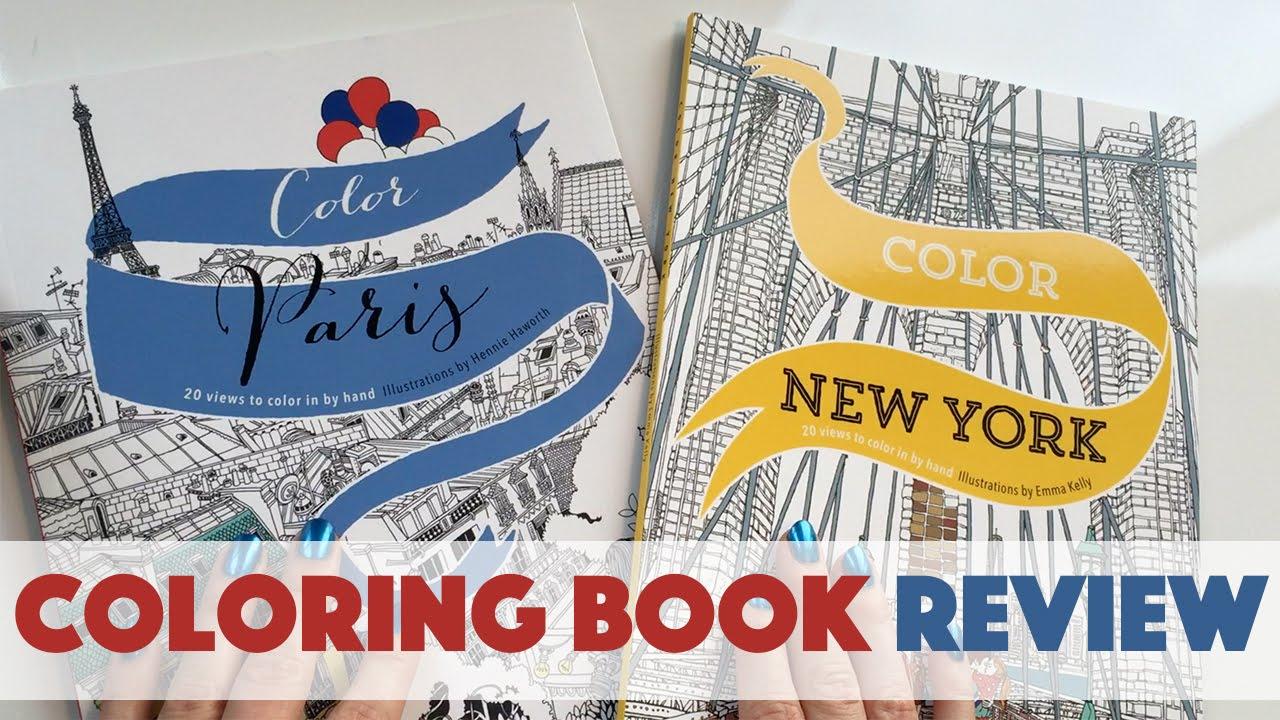 Color Paris New York Coloring Book Review