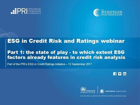 ESG in Credit Risk and Ratings  - Webinar
