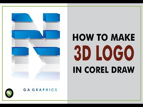 3D Logo Design Tips   Class No 28 in CorelDraw X5   Urdu/Hindi