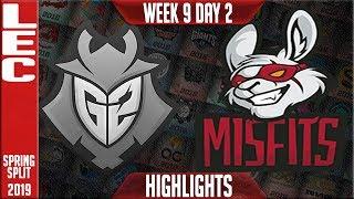 G2 vs MSF Highlights   LEC Spring 2019 Week 9 Day 2   G2 Esports vs Misfits