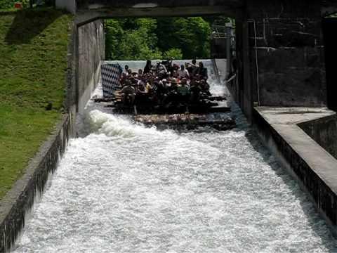 Raft Ramp in Bavaria - Floßrutsche auf der Isar