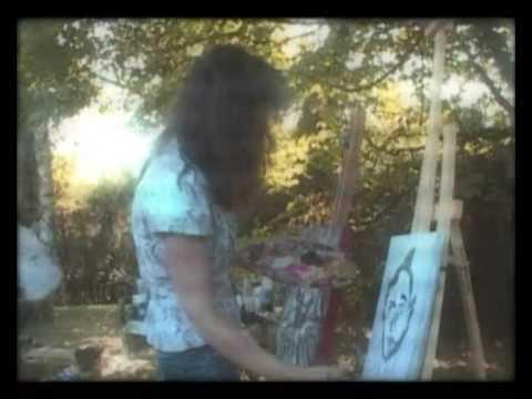 Hélène Sutin & Qian Chong painting session