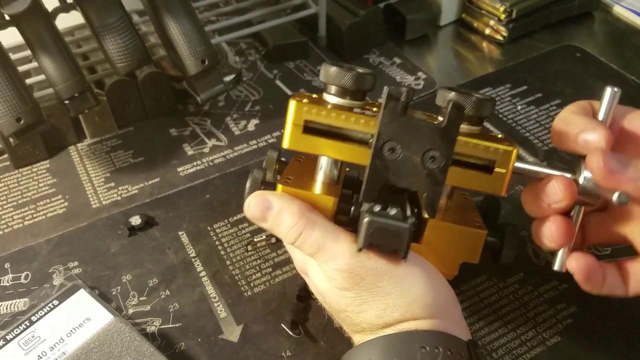 Wheeler Engineering Armorers Handgun Sight Tool Youtube
