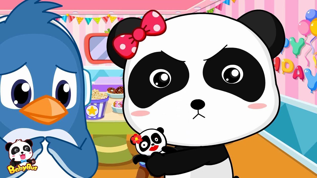 Rudolph S Birthday Gift To Panda Miumiu Kids Good Habits Babybus
