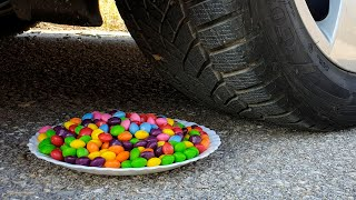 Crushing Crunchy & Soft Things by Car! EXPERIMENT CAR vs Skittles