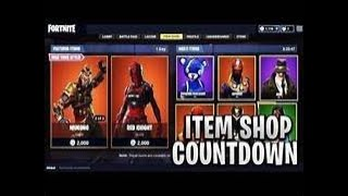 FORTNITE LIVE ITEM SHOP COUNTDOWN 22ND AUGUST!! NEW SKINS? Ikonic Giveaway