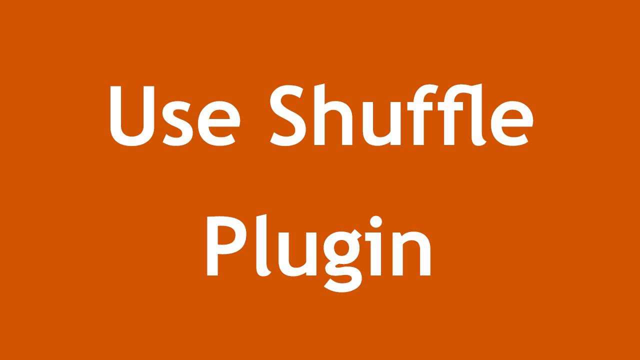 [ Arabic Tutorial Create Template 2 ] #13 - Use Shuffle Plugin
