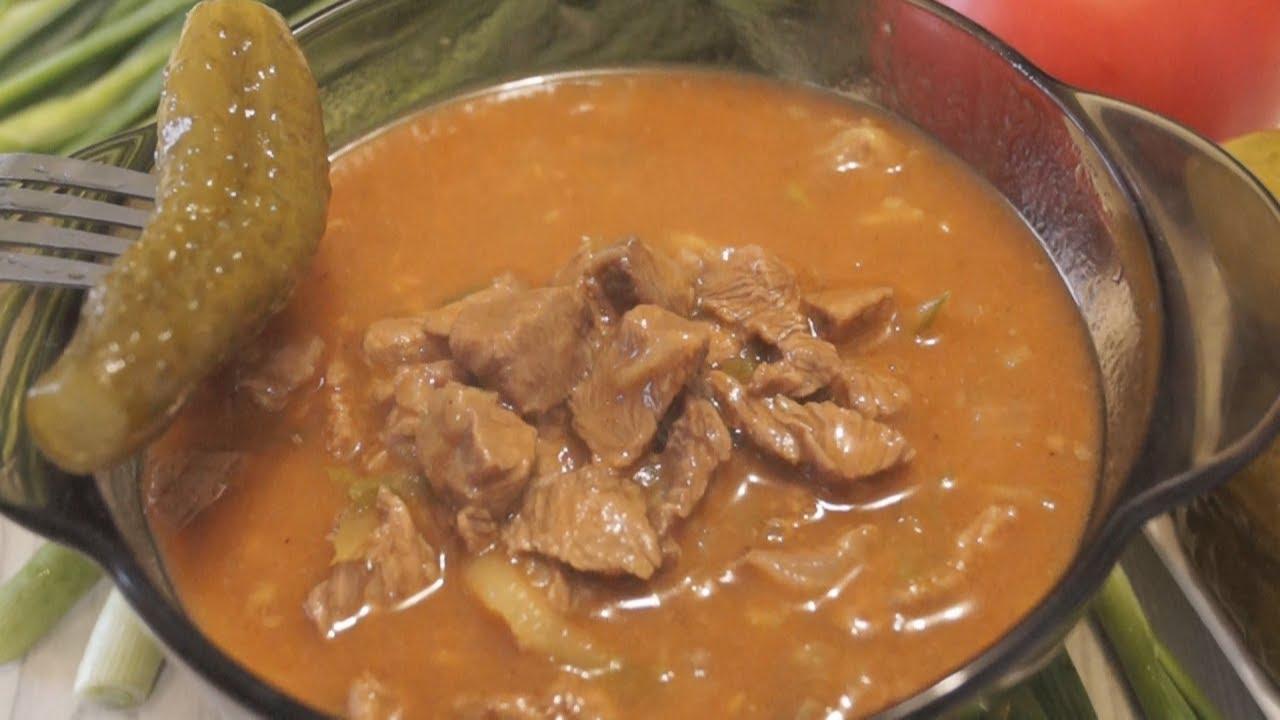 Самый вкусный гуляш из свинины с подливкой рецепт пошагово в