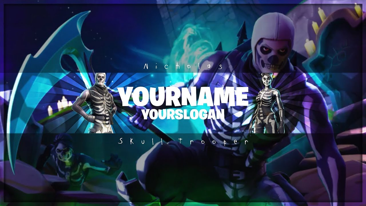 Skull Trooper Youtube Banner | Fortnite Channel Art | Photoshop CS6 #1