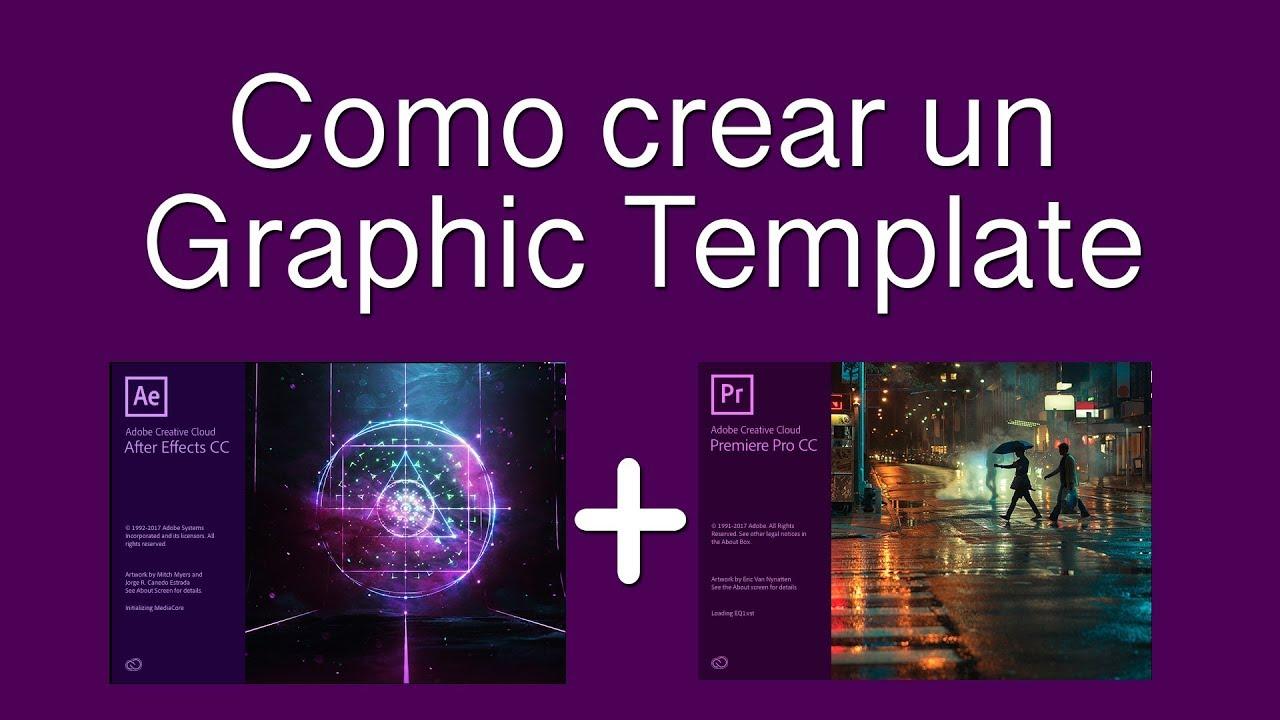 como crear motion graphics templates en after effects y premiere pro youtube. Black Bedroom Furniture Sets. Home Design Ideas