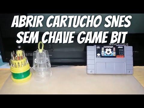 Como Abrir Cartucho De Super Nintendo Sem Chave Game Bit?