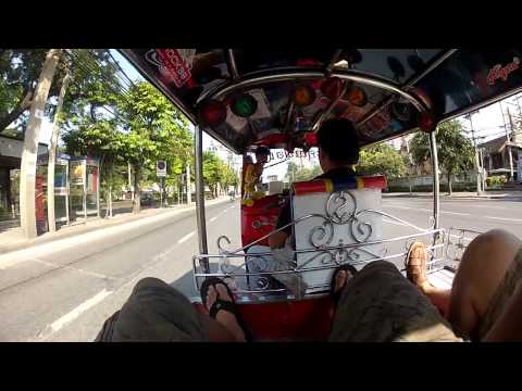 Riding a TOK TOK breaking the law in Thailand 2013