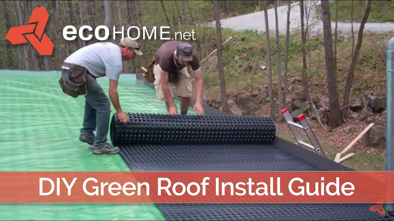 Diy Living Green Roof Installation Youtube