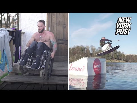Dave Hill - Wheelchair Does Not Stop This Guy From Wakeboarding