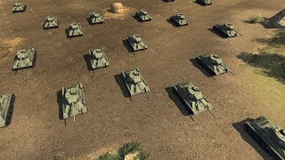 Giant Soviet Tank Army Overruns German Trenches | Men of War: Assault Squad 2 Gameplay