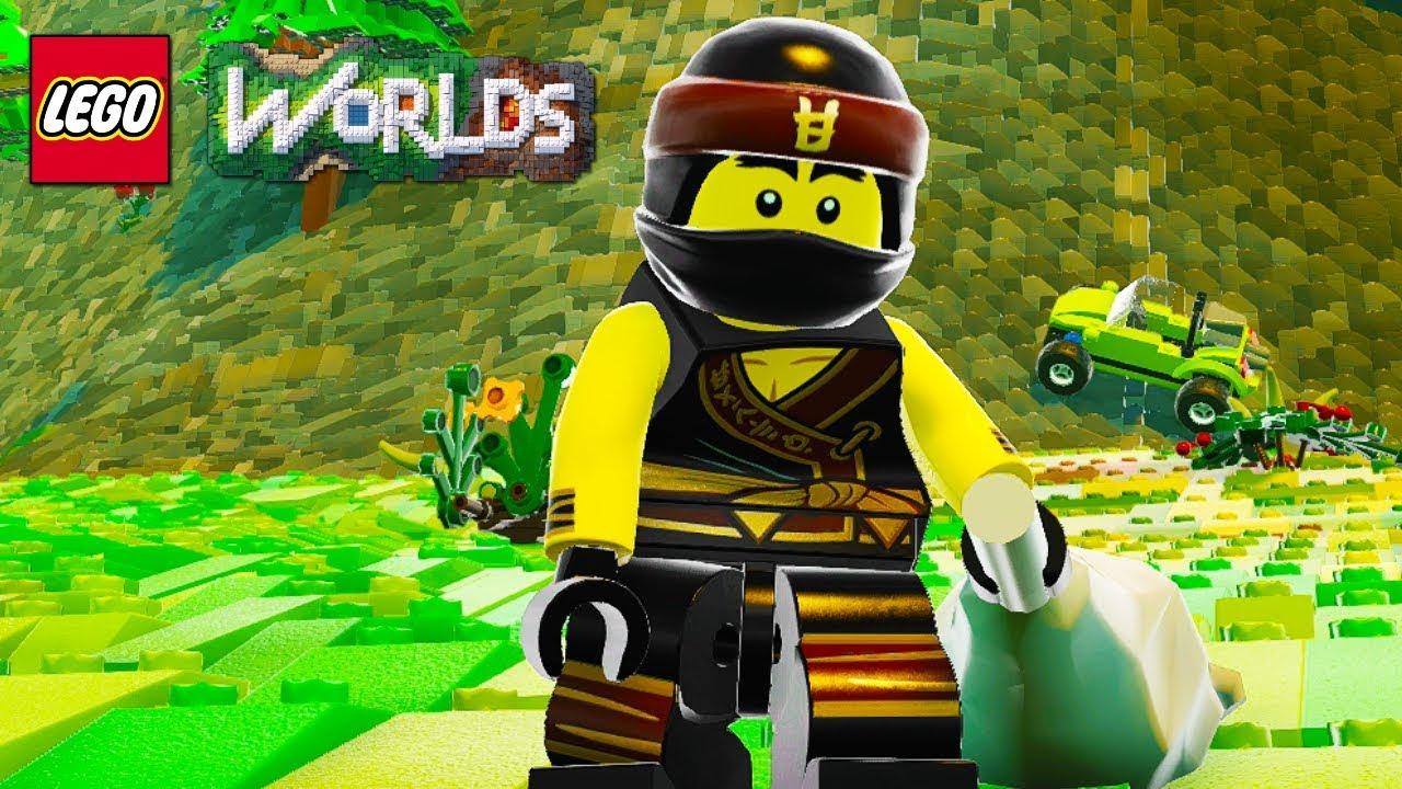 lego worlds cole from lego ninjago free roam gameplay