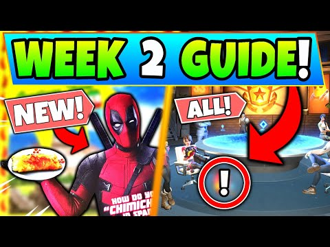Fortnite DEADPOOL'S MILK CARTON & CHIMICHANGA LOCATIONS – Week 2 Challenges In Battle Royale!