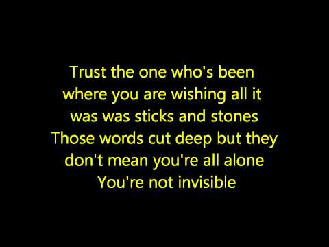 Hunter Hayes- Invisible Lyrics
