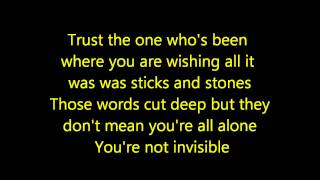 Repeat youtube video Hunter Hayes- Invisible Lyrics