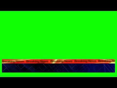 Lower Third Green Screen   Breaking News Template   3D Ticker