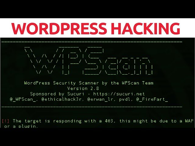 WordPress Hacking With WPScan