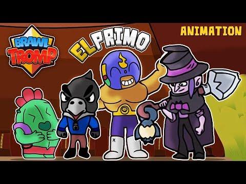 BRAWL STARS ANIMATION: EL PRIMO VS SPIKE VS CROW VS MORTIS