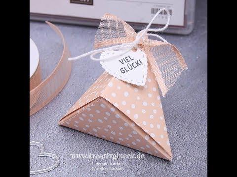 Tutorial, Origamibox mit dem Stempelset Klitzekleine Grüße von Stampin' Up!