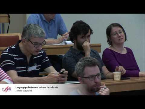 James Maynard: Large gaps between primes in subsets