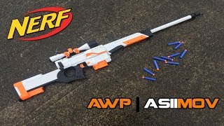 NERF AWP | ASIIMOV MOD - Bolt-action Retaliator Kit Install & Overview | Walcom S7