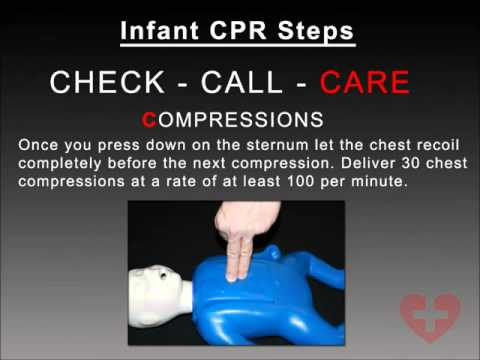 Infant CPR 2010 guidelines training video following New CAB method How to CPR Video   YouTube
