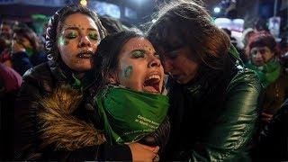 Las 17 horas de debate para legalizar el aborto en Argentina