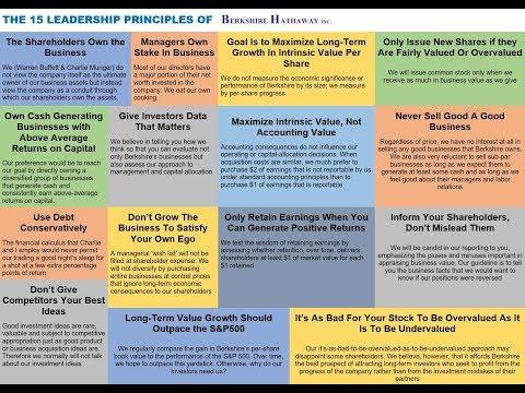 THE 15 LEADERSHIP PRINCIPLES OF BERKSHIRE HATHAWAY VIA Warren Buffett