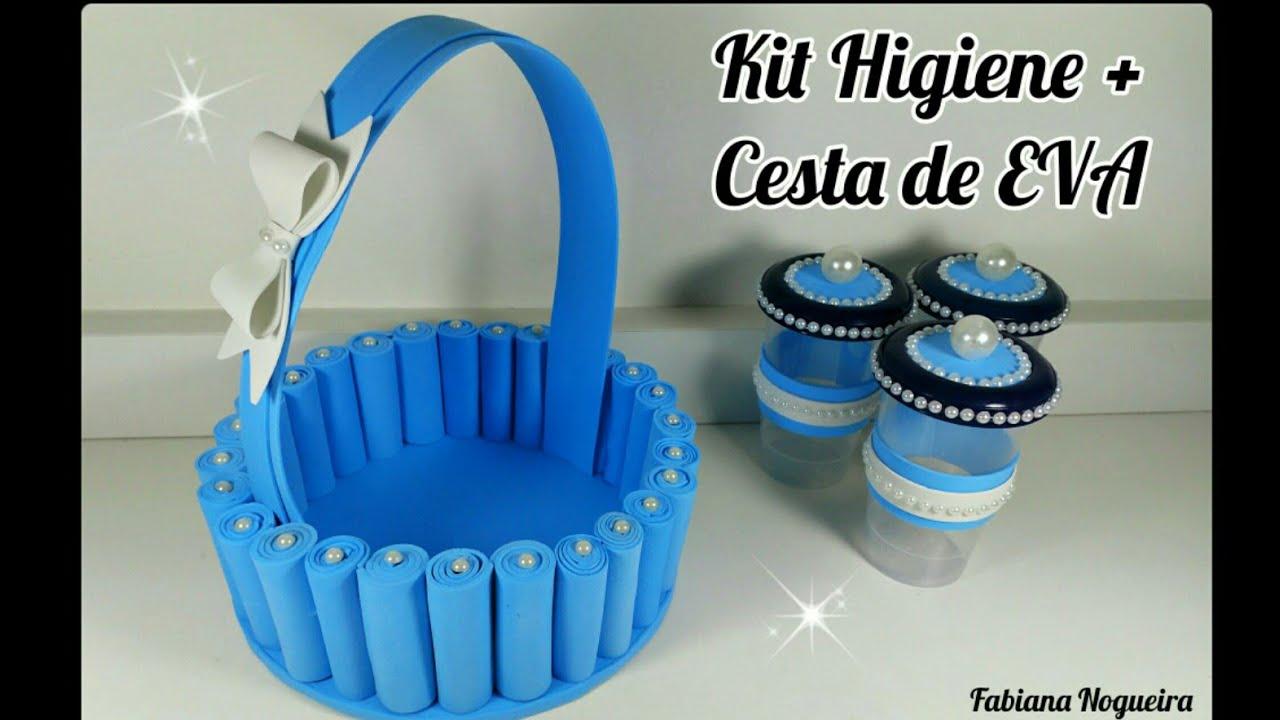 Kit Higiene Cesta De Eva Com Material Reciclável Youtube