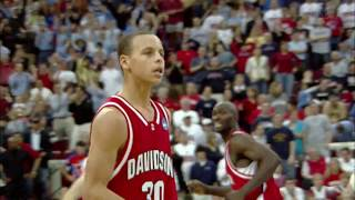 Steph Curry raining jumpers on Gonzaga in the the 2008 NCAA Tournament