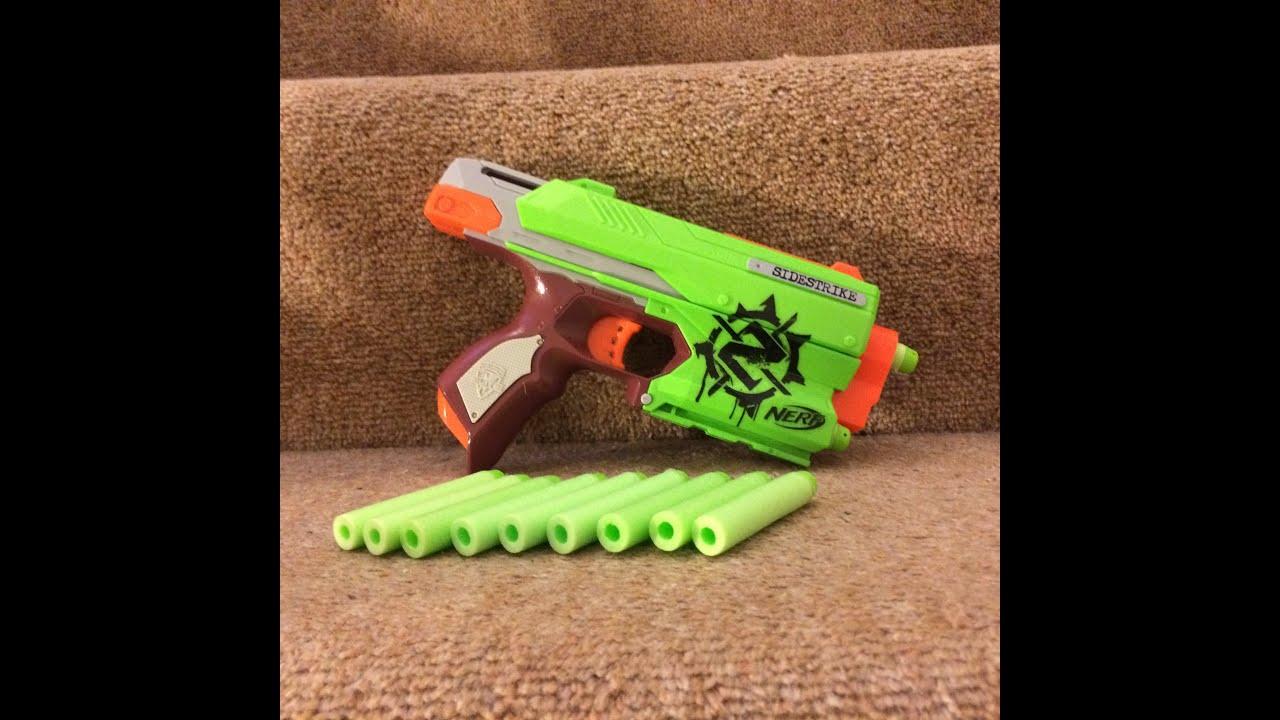 Nerf Zombie Strike Sidestrike Range Test Flat Angled