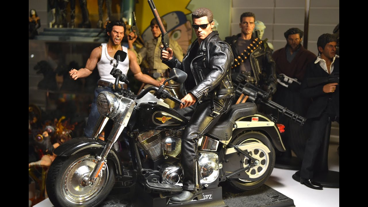 3d Bike Live Wallpaper 12 Quot 1 6 Hot Toys Dx10 Terminator T2 T 800 Figure Amp Harley