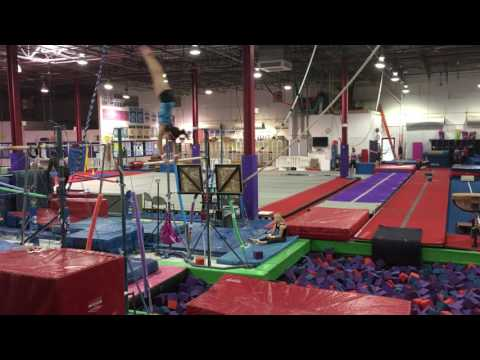 Hailey Merchant Double Layout Fullout on Bars - Training Video