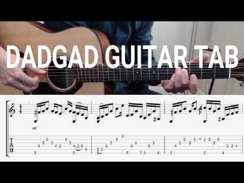 dadgad acoustic guitar tab