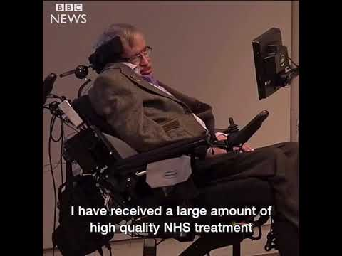 R.I.P Stephen Hawking 1942 -2018 A passionate  campaigner in the fight to #SaveOurNHS