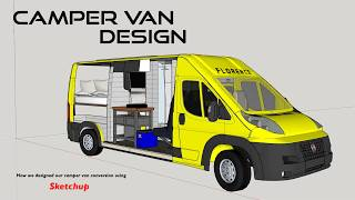 Camper Van Design Using Sketchup