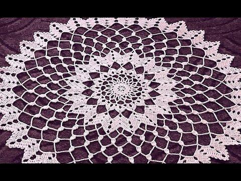Crochet Doily Tutorial How To Crochet Doily 6 8 Round Part 2 Youtube