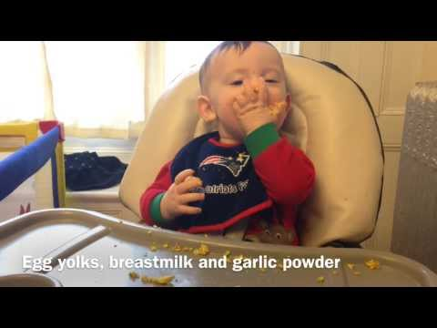 Baby Led Weaning scrambled egg yolks 8 month old