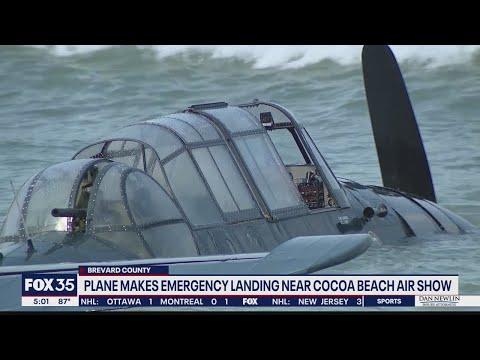 Plane made emergency landing near Cocoa Beach Air Show